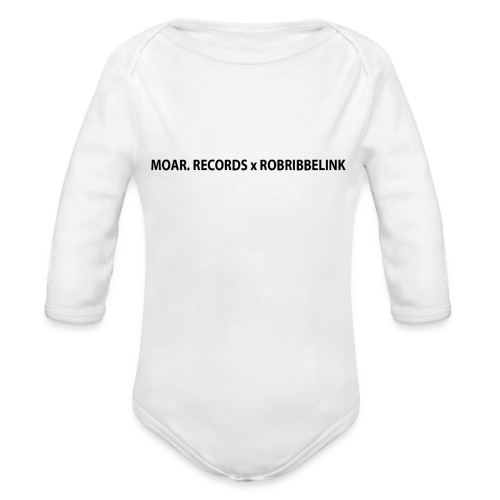 MOAR. Records x RobRibbelink phone case - Organic Longsleeve Baby Bodysuit