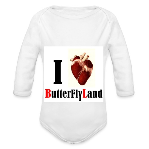 I love Butterflyland - Body bébé bio manches longues