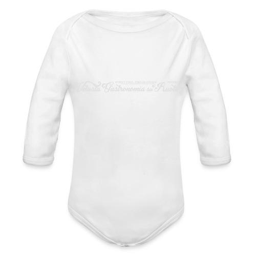 VET_bianco_street_food - Body ecologico per neonato a manica lunga