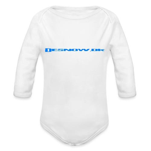 Desnow blue - Langærmet babybody, økologisk bomuld