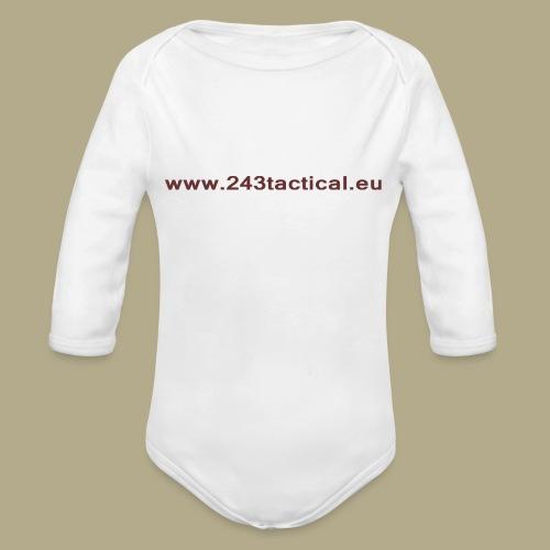 .243 Tactical Website - Baby bio-rompertje met lange mouwen