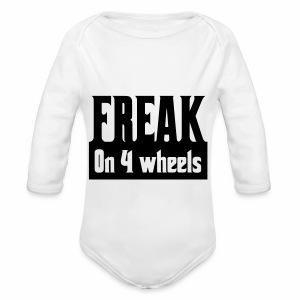 Freakon4wheels - Baby bio-rompertje met lange mouwen