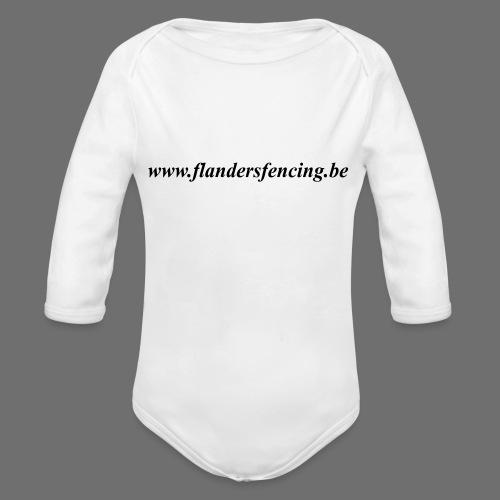 wwww.flandersfencing.be - Baby bio-rompertje met lange mouwen