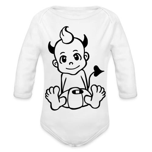 Kleiner Teufel - Baby Bio-Langarm-Body