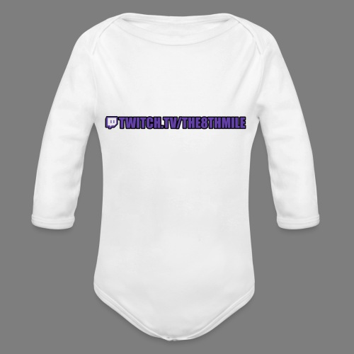 twitch.tv/the8thmile - Organic Longsleeve Baby Bodysuit