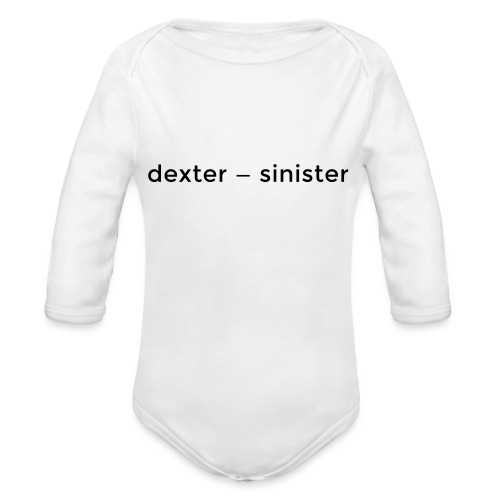 dexter sinister - Ekologisk långärmad babybody