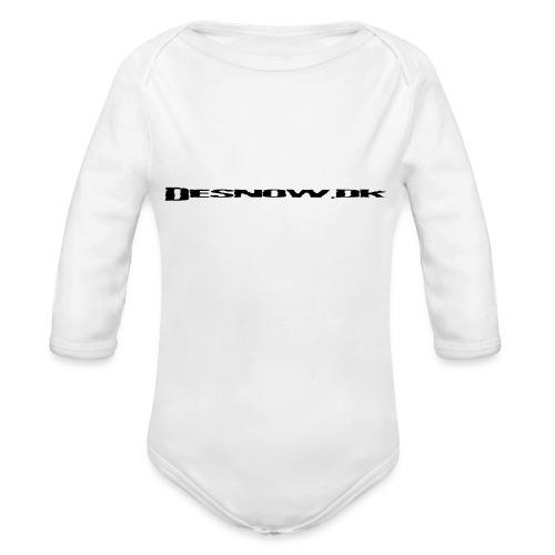 Desnow Black - Langærmet babybody, økologisk bomuld
