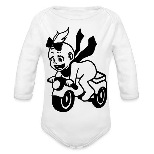 Mädchen auf Motorrad - Baby Bio-Langarm-Body