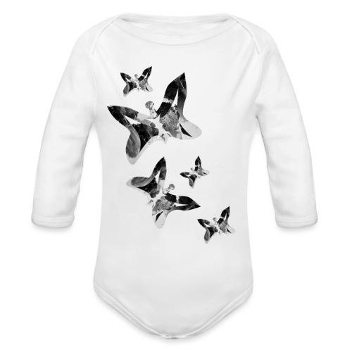 Schmetterlinge - Baby Bio-Langarm-Body