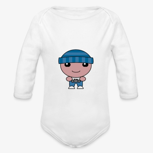 Beanie Hatter Gaming - Organic Longsleeve Baby Bodysuit