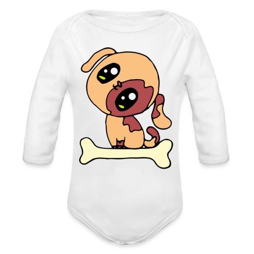 Kawaii le chien mignon - Body Bébé bio manches longues