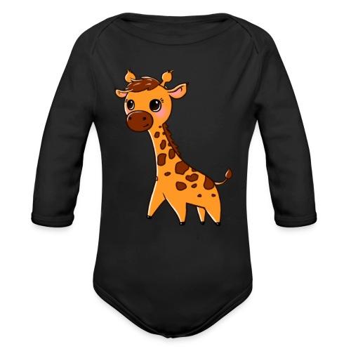 Mini Giraffe - Organic Longsleeve Baby Bodysuit