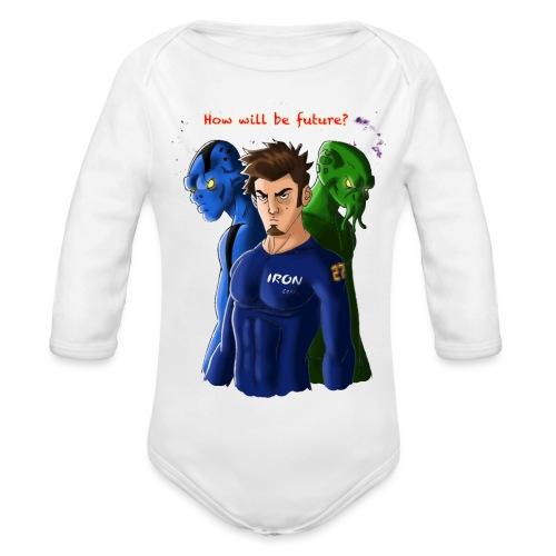 Human and Aliens - Body ecologico per neonato a manica lunga