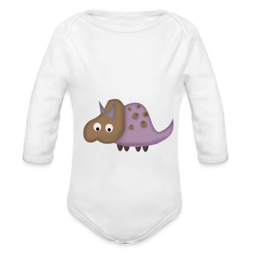 Dino 1 - Organic Longsleeve Baby Bodysuit