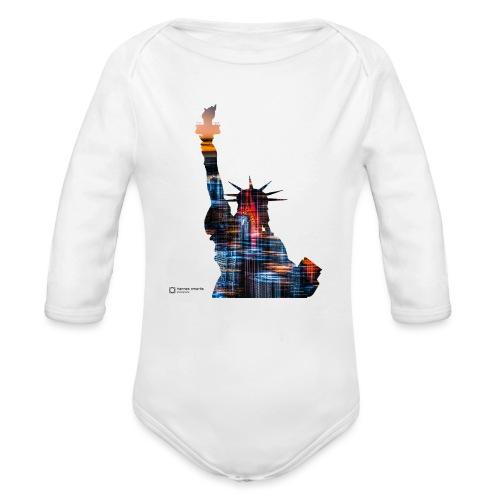 statue liberty - Baby Bio-Langarm-Body