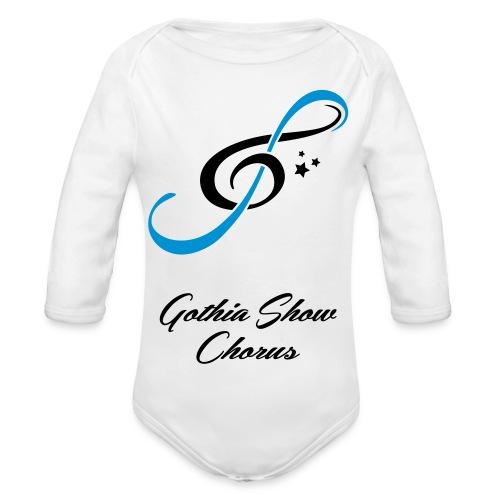 GothiaShowChorus_gklav_Blasvart - Ekologisk långärmad babybody