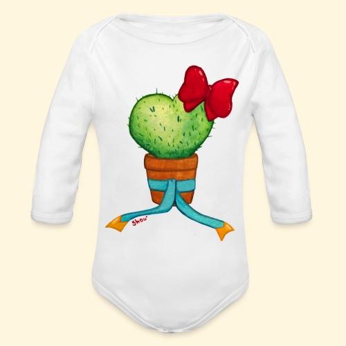 Cactus Coeur - Body bébé bio manches longues