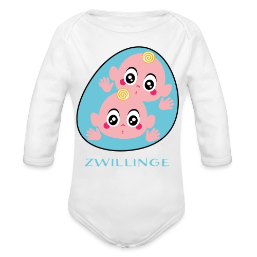 Tolles Geschenk für Zwillinge - Baby Bio-Langarm-Body