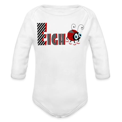 8. Jahr-Familien-Marienkäfer-T-Shirts Geschenk-Tochter - Baby Bio-Langarm-Body