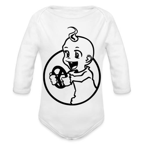 Der kleine Rennfahrer - Baby Bio-Langarm-Body