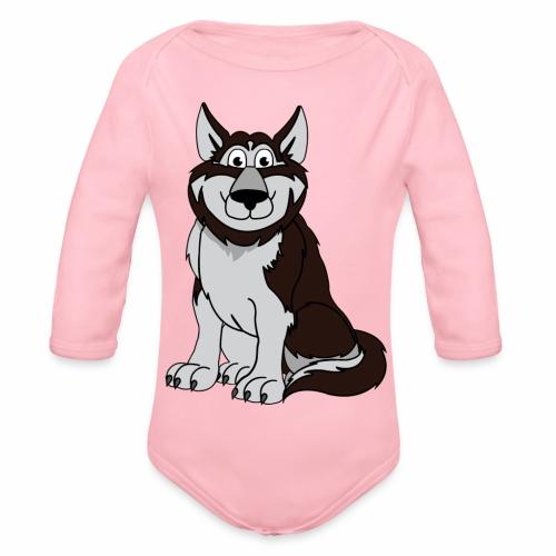 Husky - Baby Bio-Langarm-Body