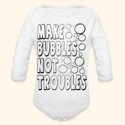 Bubbles002 - Baby bio-rompertje met lange mouwen