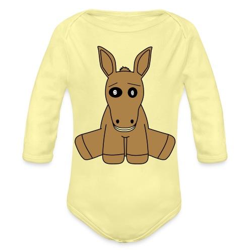 horse - Body ecologico per neonato a manica lunga