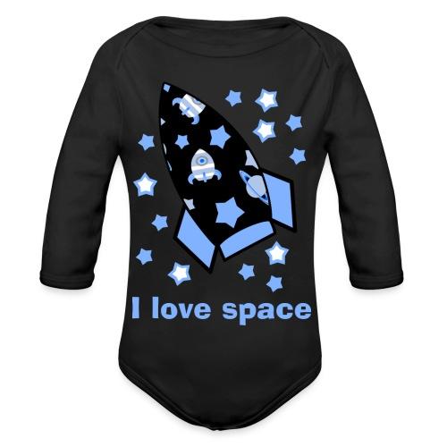 I love space - Body ecologico per neonato a manica lunga