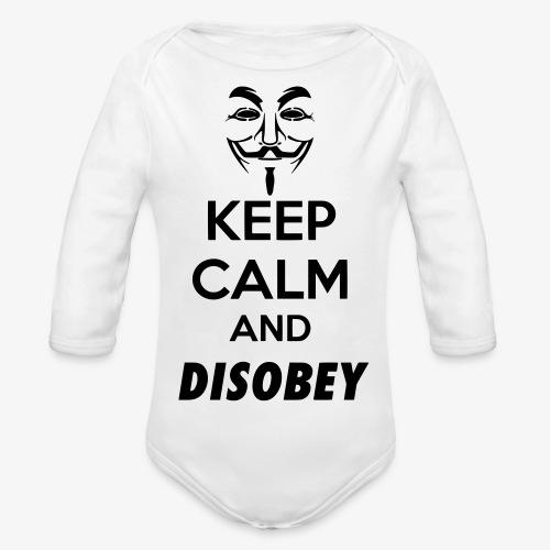 keepcalmanddisobey - Organic Longsleeve Baby Bodysuit