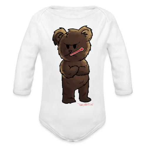 Fieber-Bär - Baby Bio-Langarm-Body