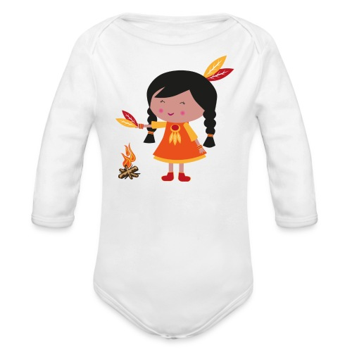 Happy Meitlis - Amerika - Baby Bio-Langarm-Body