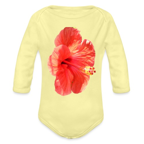 A red flower - Organic Longsleeve Baby Bodysuit