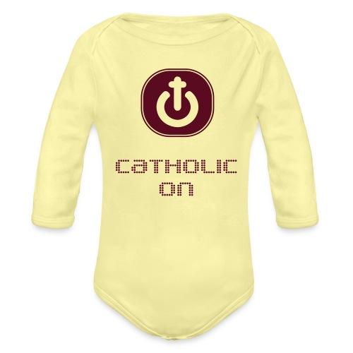 Catholic On - Body orgánico de manga larga para bebé