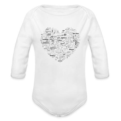 Heart Cluster - Organic Longsleeve Baby Bodysuit