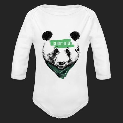 Panda bearly alive - Body Bébé bio manches longues