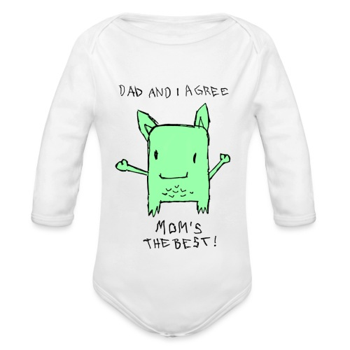 Little Monster - Baby Bio-Langarm-Body
