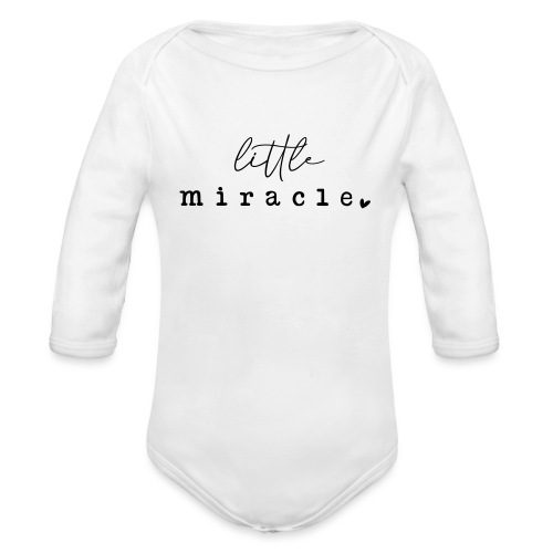 Little Miracle - Baby bio-rompertje met lange mouwen