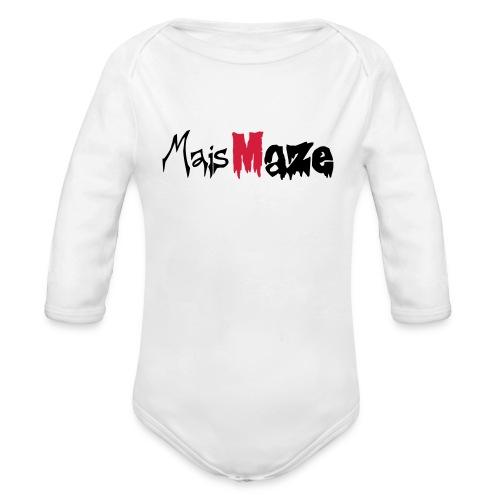 MaisMaze Logo - Baby Bio-Langarm-Body