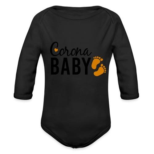 Corona Baby neutral Babybauch Schwangerschaft - Baby Bio-Langarm-Body