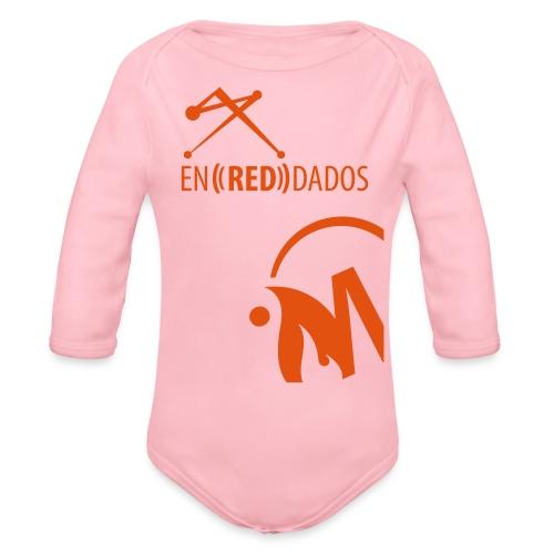 naranja_abajo - Body orgánico de manga larga para bebé