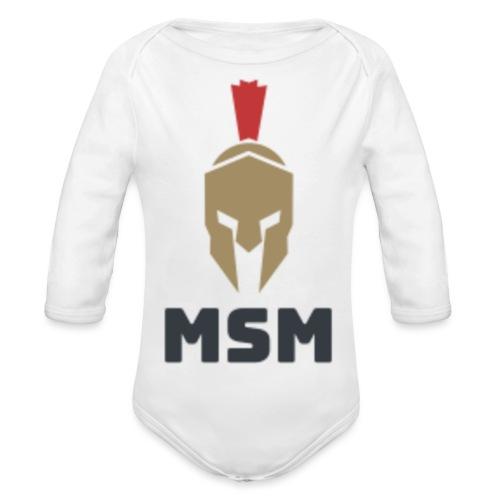 MSM Warrior - Langærmet babybody, økologisk bomuld