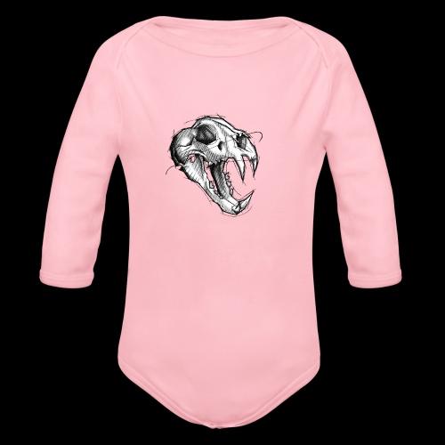 Teschio Tigre - Body ecologico per neonato a manica lunga