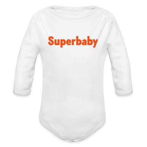 Superbaby Schriftzug - Baby Bio-Langarm-Body