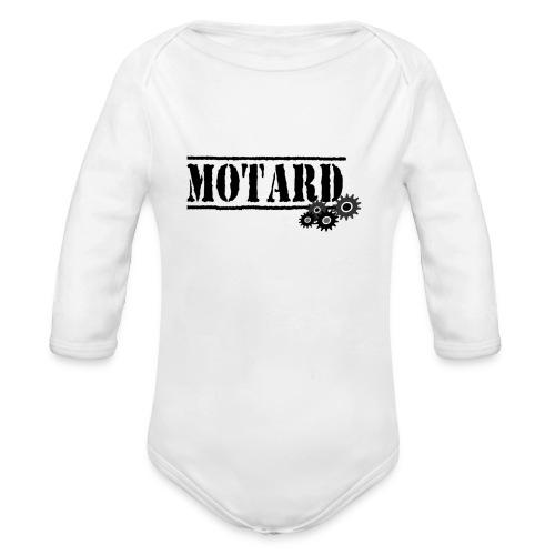 Motard Logo - Body ecologico per neonato a manica lunga