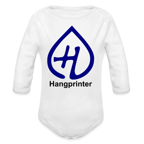Hangprinter logo and text - Ekologisk långärmad babybody