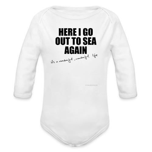 HereIgoCAPSImpactV4larget - Organic Longsleeve Baby Bodysuit
