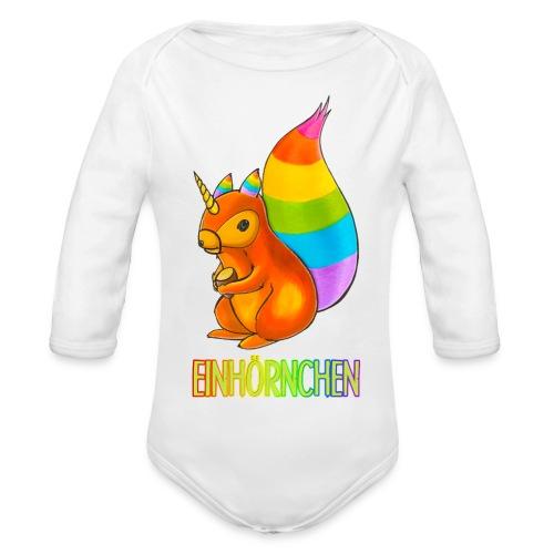 Einhörnchen - Baby Bio-Langarm-Body