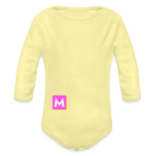 ByMINA logo - Langærmet babybody, økologisk bomuld
