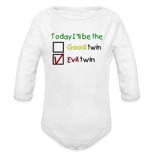 goodevil2 png - Ekologisk långärmad babybody