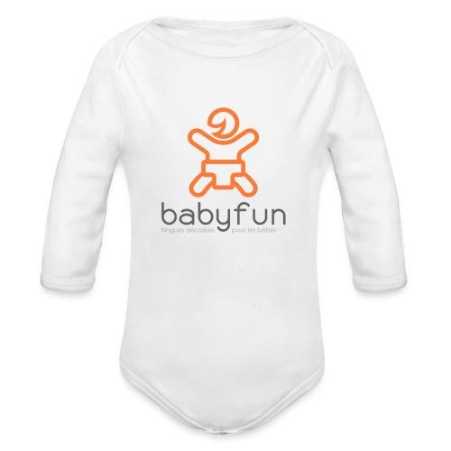 Babyfun - fringues décalées pour les bébés - Body Bébé bio manches longues